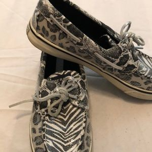Sperry topsiders multi print zebra and leopard